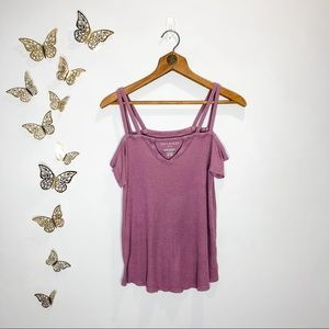 🦋🌙 AEO | Lavender Soft & Sexy Exposed Shoulder